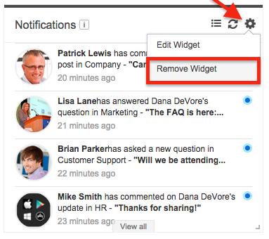 how to add news widget